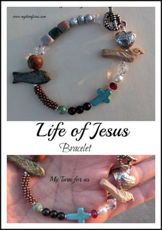 Life of Jesus Bracelet tell the story of Jesus' life using different colors and shapes of beads. www.myturnforus.c...