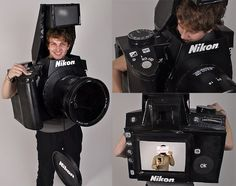 Awesome! Best costume idea ever - fully functional camera costume. Wish I'd have thought of that!