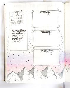 10 Bullet Journal Layouts You Can't Resist Bullet Journal Period Tracker, Bullet Journal Monthly Spread, Bullet Journal 2019, Bullet Journal Notebook, Bullet Journal Inspo, Bullet Journal Ideas Pages, Bullet Journal Layout, Book Journal, Bullet Journals