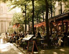 Paris Photography - Tabac de la Sorbonne Print - Paris Photograph - French Cafe Wall Art - Parisian Home Decor - Fine Art Print Bistro Photo