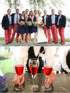 Groomsmen in Nantucket Reds!  I love it!
