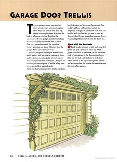 Garage Door Trellis by Better Homes and Gardens. Arbors and Pergola Ideas Pergola Diy, Garage Pergola, Pergola Ideas, Cheap Pergola, Steel Pergola, Arbor Ideas, Pergola Roof, Better Homes And Gardens, Patio Interior