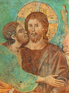 Cimabue, A Captura de Cristo (detalhe), Igreja Alto de São Francisco de Assis, 1280-1283
