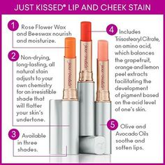 Enhance your natural coloring with Just Kissed Lip & Cheek Stain - now available in three shades: Forever Pink, Forever Peach & new Forever Red.