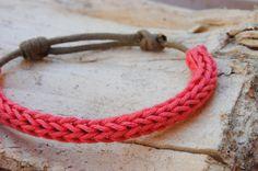 2 Crochet Bracelets Rust and 1 Crochet and Cord por canijamakes ❥Teresa Restegui http://www.pinterest.com/teretegui/❥