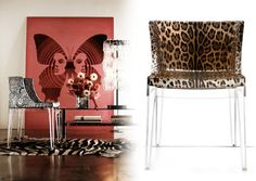 Kartell's Mademoiselle Chair by Philippe Starck (of course) | Object of Desire | StyledOn | Def want the one in the leopard Dolce & Gabanna print