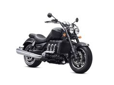 The Triumph Rocket III Roadster is the engine donor of the Streamliner. Its 2.294 cc tandem inline triple engine produces 148 hp (110 kW) in stock form