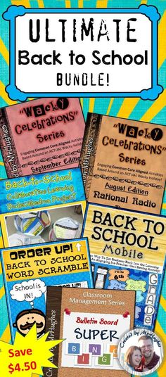 BACK TO SCHOOL TIME!  Here they are, an amazing bundle of back to school goodies that will make back to school a breeze and help make this year the best year yet!  Not only will the SIX items in this bundle will keep your students focused and engaged right from the first minute of school, they will also provides amazing end results that parents, colleagues, and administrators LOVE to SEE. ($)