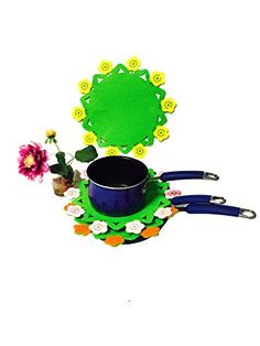 Good Quality Colorful Flowers Multifunction Pan Protector Help to Stack Your Pot Pan Bowl and Dishes Without Scratching Them a Set of 3 Colorful Flowers By CTD Store *** Continue to the product at the image link.