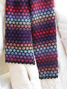 Free Pattern: Stained Glass Scarf by Anne Ross