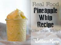 Real Food Pineapple Whip Recipe (like Dole Whip)