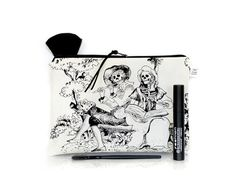 Day of the dead Toile Skeletons pouch Make up bag by TheDutchLoft