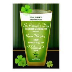 St. Patrick's Day Party Invitations St. Patricks Day Birthday Party Invitations