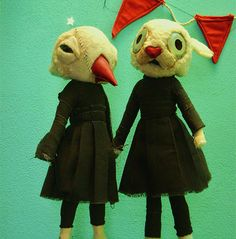 handmade charlotte  Etsy Finds: Puppet Sculptures by Valeria Dalmon