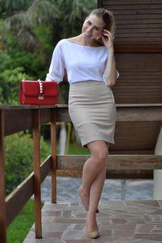 Look - In love Again | SulianeVieira.com |  Top feito por mim Saia Renner Sapato Stilizzati Bolsa Valentino