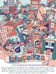 Lollapalooza Poster Contest | 2013 on Behance