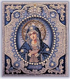 List with icons of the Mother of God of by EmbroideryUniverse Catholic Art, Catholic Saints, Religious Icons, Religious Art, Immaculée Conception, Virgin Mary Art, Hail Holy Queen, Religion, Mama Mary