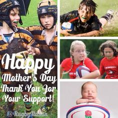 Happy Mother's Day who accepts and supports her child enough to let them play rugby <3