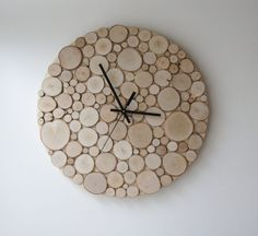 Elegantly Sliced Wood Slab Wall Clock