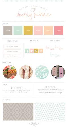 SimplyPchee Brand Board