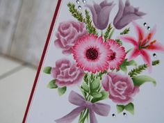 Cards and Creations: No-lines blomsterbukett