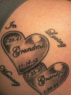 Latest tattoo for my beloved grandparents.. they are dearly missed<3