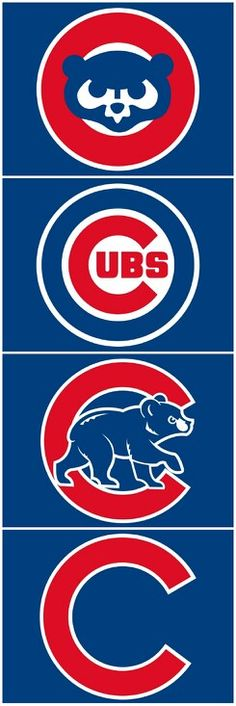 Evolution of Chicago Cubs Logos Chicago Cubs Baseball, Chicago Bears, Chicago Cubs Logo, Baseball Bats, Baseball Stuff, Cubs Tattoo, Cubs World Series, Cubs Win, Go Cubs Go