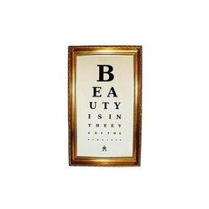 Keep Calm » Eye Chart - Beauty ❤ liked on Polyvore