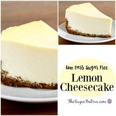 This Recipe for Delicious Low Carb Sugar Free Lemon Cheesecake that is easy to make, keto alternatives and impressive to serve as well. Sugar Free Deserts, Low Carb Deserts, Low Carb Sweets, Sugar Free Recipes, Dessert Mousse, Dessert Drinks, Dessert Recipes, Low Carb Cheesecake Recipe, Lemon Cheesecake