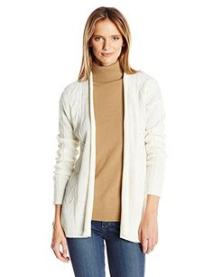 Jason Maxwell Women's Kimono Cable Cardigan, Egret, X-Large-$19.99