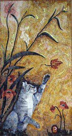 Cats in Art and Illustration: Luigi Perotti mosaic