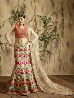 Cream Wedding Special #Wholesale #Lehengacholi #Supplier  Buy Now @ http://www.suratwholesaleshop.com/Pure-Net-Embroided-Lehenga-With-Embroided-Dupata-And-Heavy-Blouse-3004?view=catalog  #Bulksupplier #Lehengas #Exporter #Suratwholesaleshop #Wholesaler #Lehengas #Ghagracholi