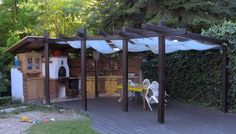 A komplett gasztroközpont Outdoor Kitchen Patio, Pergola, Bbq, Outdoor Structures, Oven, Pizza, Google, House, Kiosk