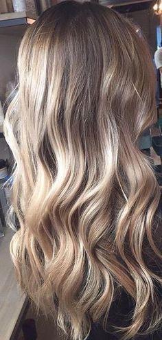 balayage ombre bronde hair color