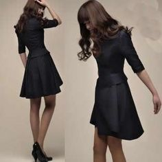 black dress work outfit ideas - Google Search