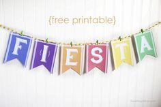 Cinco de mayo banner + 12 FREE printables