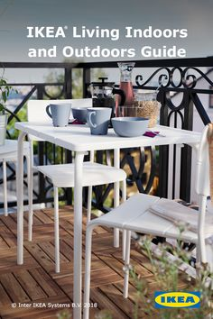 The IKEA catalog is full of smart, beautiful solutions, all designed to help you achieve a better everyday life at home! Backyard Furniture, Deco Furniture, Colorful Furniture, Outdoor Furniture, Ikea Outdoor, Outdoor Rooms, Outdoor Living, Patio Balcony Ideas, Patio Ideas