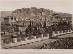 Ο ναός του Ηφαίστου (Θησείο) στον χώρο της Αρχαίας Αγοράς και η Ακρόπολη από τα βορειοδυτικά, 1889, CABROL, Elie.