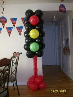 Balloon Racing Light - Just the photo, but what a great idea for a PWD!