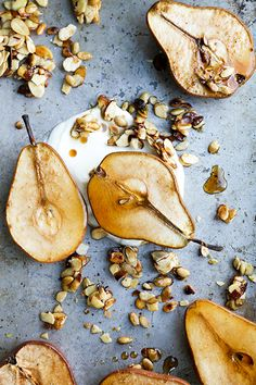 Maple Roasted Pears with Yogurt and Maple-Nut Clusters | www.floatingkitchen.net