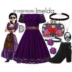 DisneyBound - Imelda from Disney Pixar Coco Cute Disney Outfits, Disney Themed Outfits, Disney Dresses, Cute Outfits, Disney Clothes, Moda Disney, Disney Mode, Disney Diy, Disney Pixar