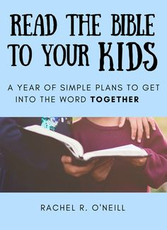 Read the Bible to your little ones this year! This ebook is the perfect tool engage your toddlers and preschoolers with God's Word- great for family worship.