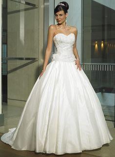 Belle Robe de mariée en Satin sans bretelle