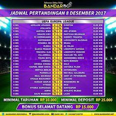 bandarbo.net Jadwal Pertandingan Sepakbola 8 Desember 2017… #Bandarbo.me #DaftarBandarbo #TaruhanBola #BandarTaruhan #DepositBandarbo
