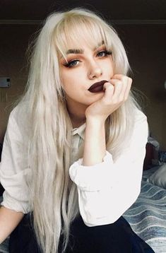 Easy healthy breakfast ideas on the good day song Blonde Goth, Blonde Wig, Goth Hair, Hair Inspo, Hair Inspiration, Hairstyles With Bangs, Gothic Hairstyles, Natural Hair Styles, Long Hair Styles