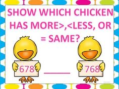 the results of comparisons with the symbols for more, less, or equal ...