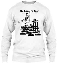 My Favorite Play White T-Shirt Front