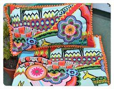 Almohadones para sillas Estilo Mexicano, realizado a pedido de cliente. Por consultas sobre trabajo similar, escribime a consultaslindacasita@gmail.com