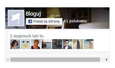 Gadzet, dodatek Facebook na blogu Blogspot zawierający wtyczkę Polub tę stronę