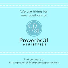 proverbs 31 ministries jobs